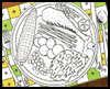 <strong>Coloring </strong><strong>Placemat   : Crafts Ideas for Kids to Decorate Thanksgiving Tables</strong>