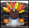 Edible   Turkey Feather Thanksgiving Centerpiece