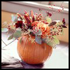 Pumpkin   Roses Centerpiece