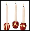 Apple   Candlesticks  : Thanksgiving Table Decorations Crafts Ideas