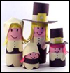 Kids'   Thanksgiving Pilgrim Family Centerpiece