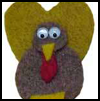Felt   Turkey Pin Jewelry Craft  : Thanksgiving Turkey Crafts Ideas for Kids