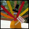 Craft   Stick Turkey Greeter  : Thanksgiving Turkey Crafts Ideas for Kids