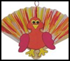 Fan   Tail Turkey  : Thanksgiving Turkey Crafts Ideas for Kids