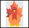 Maple   Leaf Turkey Craft    : Thanksgiving Turkeys Activities