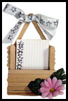 "3x5"" Recipe Card Holder Craft with Wooden Craft Sticks"