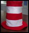 Felt Dr. Seuss Hat Craft for Kids
