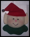 Felt Elf Christmas Ornament Craft