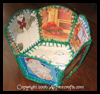 Recycled Christmas Cards Basket