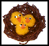 Chicks in a Nest Craft with Yarn for Kids