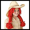 Cowgirl Wig for Dressup Craft