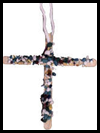 Cross Necklace with Wooden Popcicle Sticks