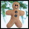 Make a Felt Gingerbread Man Ornament