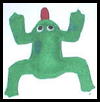 Frog Bean Bag Felt Craft for Kids