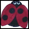 Ladybug Felt Bean Bag Craft for Kids