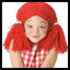 Rag Doll Wig Craft with Yarn