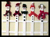 Snowmen Fence Craft for Kids