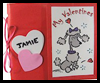 Paper Bag Valentine Card Holder Craft