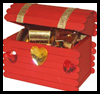 Valentine Treasure Box Craft