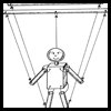 Marionette Puppet Craft Toy for Kids