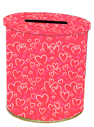 Valentine's Day Coffee Can Heart Card Mailbox Craft