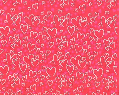 Now find yourself some wrapping paper that is suitable to represent love and Valentine's Day.