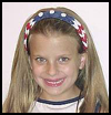 Patriotic   Finger Weave Headband   : Veteran's Day Crafts Activities for Children