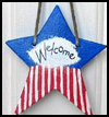 Patriotic   Welcome Star  : Patriotic Arts and Crafts Projects