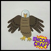 Hand   and Footprint Eagle  : Veteran's Day Crafts Ideas for Kids