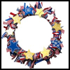 Patriotic   Wreath  : Patriotic Arts and Crafts Projects