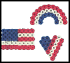 Perler   Bead Patriotic Pins  : Patriotic Arts and Crafts Projects