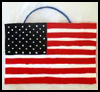 American   Flag Wall Hanging  : Veteran's Day Crafts Ideas for Kids