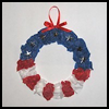 Patriotic   Tissue Paper Wreath  : Patriotic Arts and Crafts Projects