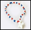 Patriotic   Pony Bead Necklace  : Patriotic Arts and Crafts Projects