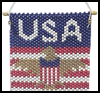 Beaded   Patriotic Wall Hanging  : Veteran's Day Crafts Ideas for Kids