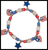 Patriotic   Charm Bracelet   : Veteran's Day Crafts Activities for Children