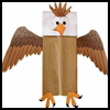 Paper   Bag Bald Eagle Craft   : Veteran's Day Crafts Activities for Children