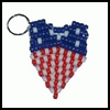 Patriotic   Key Chain  : Patriotic Arts and Crafts Projects