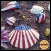 Patriotic   Sea Shells  : Patriotic Arts and Crafts Projects