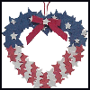 Red,   White & Blue Heart Wreath