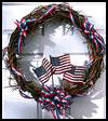 4th   of July Wreath  : Veteran's Day Crafts Ideas for Kids
