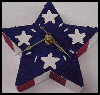 Patriotic   Star Clock  : Patriotic Arts and Crafts Projects