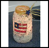Patriotic   Candle Jar   : Veteran's Day Crafts Activities for Children