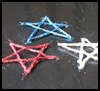 Glitter   Glue Yarn Stars  : Veteran's Day Crafts Ideas for Kids