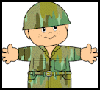 "Camouflage   ""Friends""  : Veteran's Day Crafts Ideas for Kids"