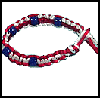 Patriotic   Macramé Bracelet  : Patriotic Arts and Crafts Projects