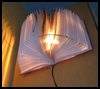 Recycled    Book Lampshade  : Recycle Old Books Craft for Kids