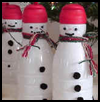 Snowman   Bottle Craft Winter SNowing Craft