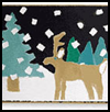 Patchwork    Art : Snowing Scenery : Winter Snow Crafts for Kids