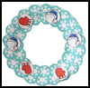 Paper    Plate Winter Wreath Craft for Kids